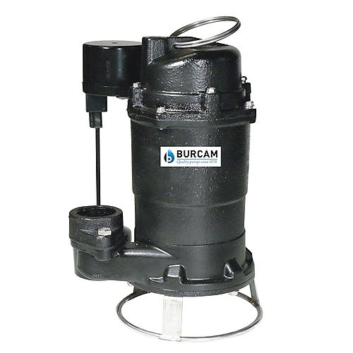 BURCAM 3/4 HP submersible sewage grinder pump