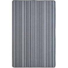 Skylar Silver 4 ft. x 6 ft.  Rectangular Door Mat