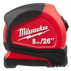 Milwaukee Tool Mesure Compacte De Bande De 8 m / 26 ft.