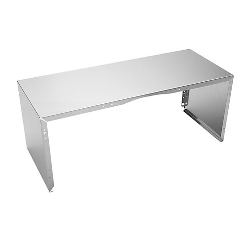 Full Width Duct Cover - 30 Inch  Stainless Steel