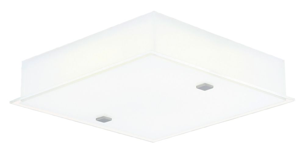 Eglo Sapri Ceiling Light 1L, Matte Nickel Finish with Satin White Glass