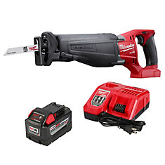 M18 FUEL 18V Lithium-Ion Brushless Cordless SAWZALL Reciprocating Saw W/(1) 9.0Ah Battery & Charger