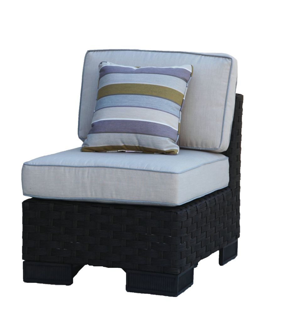 onSight Hestia Wicker Armless Patio Club Chair