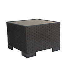 Hestia Wicker Patio Side Table with GRC Top
