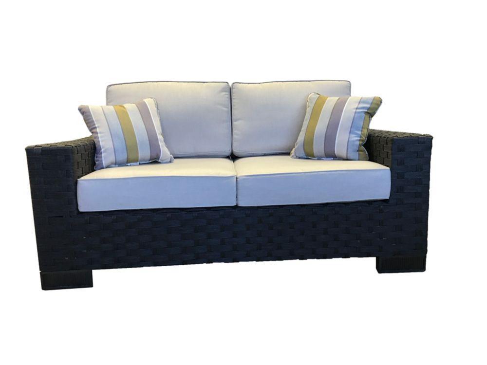 cushions lv spectrum p sunbrella decorators loveseat mist home wicker patio loveseats collection outdoor with bolingbrook