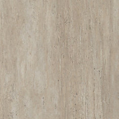 16 inch x 32 inch New Travertine Luxury Vinyl Tile Flooring (Sample)