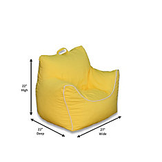 Yellow Bean Bag Chair with Removable Cover