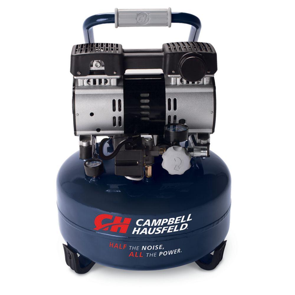 Quiet Air Compressor, 6-Gallon, Pancake (DC060500)