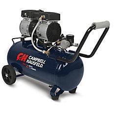 Le compresseur dair silencieux Campbell Hausfeld de 30 L (8 gal), horizontal (DC080500)