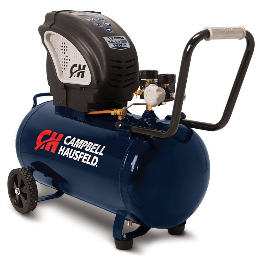Campbell Hausfeld 49L 90 PSI Horizontal Oil-Free Air Compressor