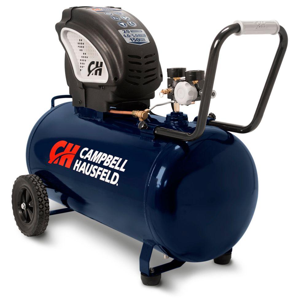20-Gallon Horizontal Oil-free Air Compressor (DC200000)