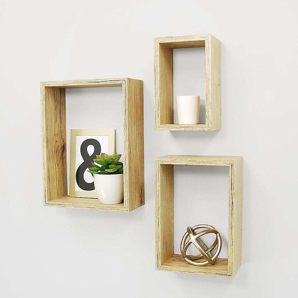 Accent Piece For Wall 5x8: Kiera Grace Nesting 3-Piece Wall Shelf 5x8 Inch , 7x10