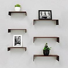 Extense Wall Shelves- Espresso (6-Pack)