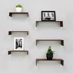 Kiera Grace Extense Wall Shelves- Espresso (6-Pack)