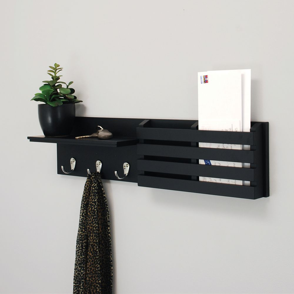 with mounted coat shelf rack racks wall using
