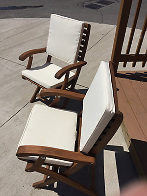 interbuild cushion 2 pack for casino patio folding chair in cream