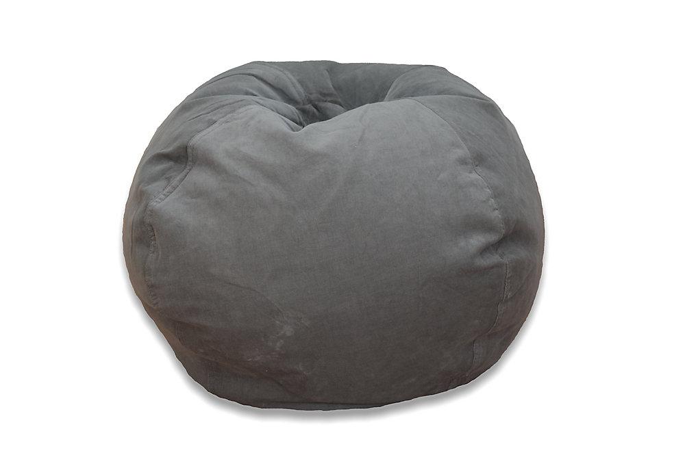 medium solid cord bean bag in vintage slate