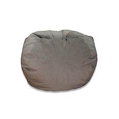 Large Textured Velvet Bean Bag in Taupe