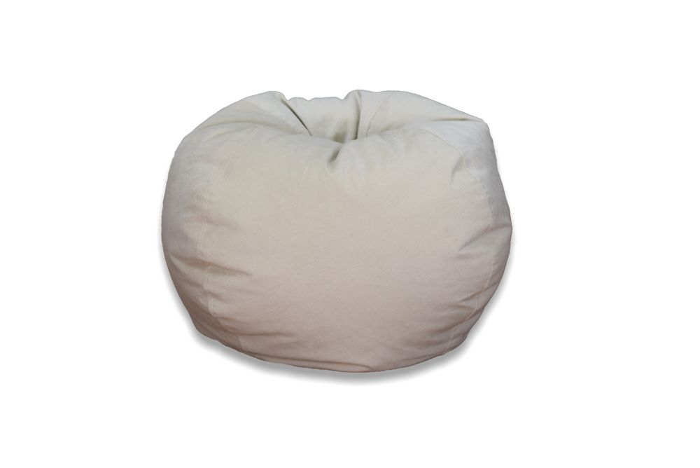 221f31c234 Ace Casual Furniture Large Textured Velvet Bean Bag in Sand
