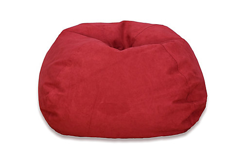 Large Microsuede Bean Bag Chair In Red