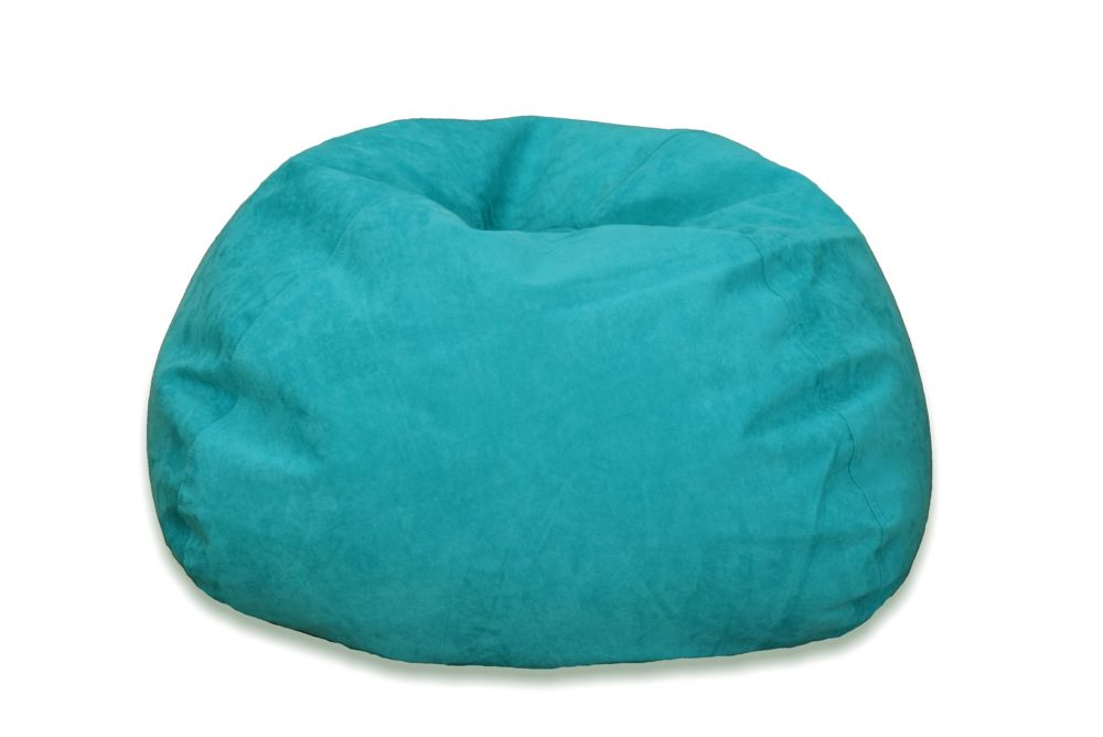 Ace Casual Furniture Large Microsuede Bean Bag Chair in Turquoise