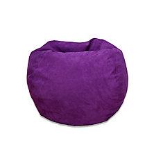Grand sac poire en microsuède - mauve