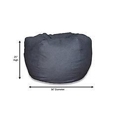 XLarge Bean Bag Chair in Vintage Denim