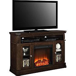 Dorel Brooklyn 47-inch x 51-inch 70 lb. Capacity Fireplace TV Stand in Espresso