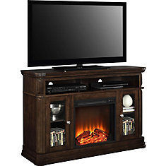 Brooklyn 47-inch x 51-inch 70 lb. Capacity Fireplace TV Stand in Espresso