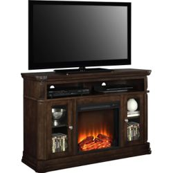 Dorel Brooklyn 47-inch x 51-inch 70 lb. Capacity Fireplace TV Stand in Espresso