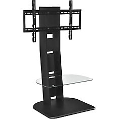 Galaxy TV Stand for 50-inch TVs with Mount in Black