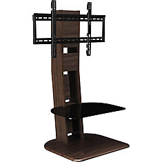 Galaxy TV Stand for 50-inch TVs with Mount in Walnut