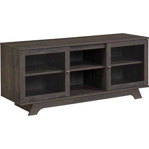 Dorel Englewood 65 lb. Capacity Entertainment Console for 55-inch TVs in Dark Grey Oak