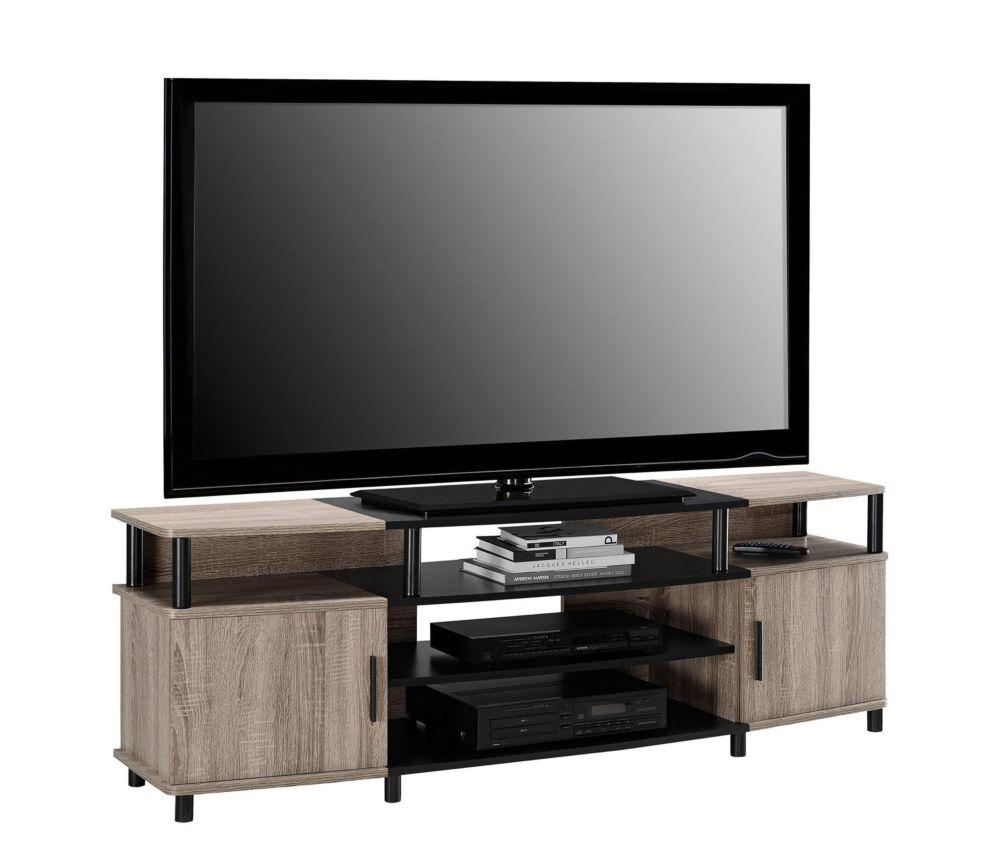 Meuble Pour Tv 70 De Carson Sonoma Chene Noir