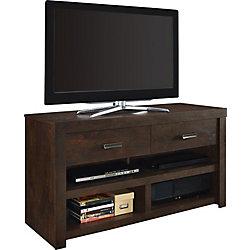Dorel Westbrook 50 lb. Capacity TV Stand for 42-inch TVs in Dark Walnut