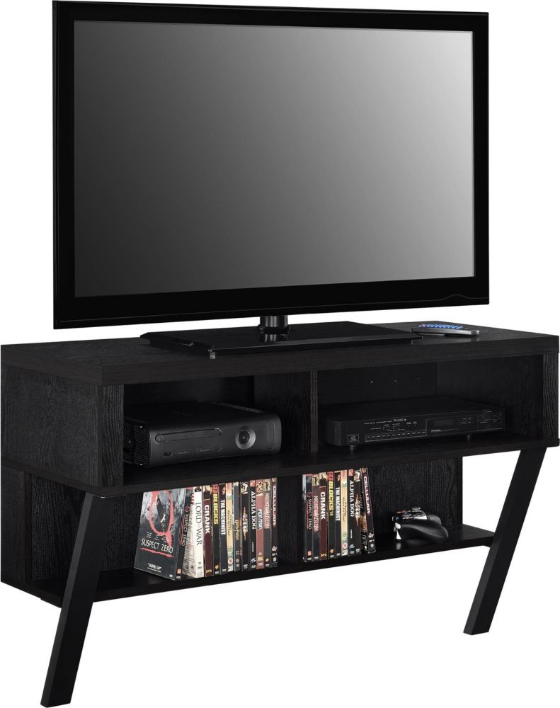 Dorel Layton 70 lb. Capacity Wall Mounted TV Stand for 47-inch TVs in Black Oak