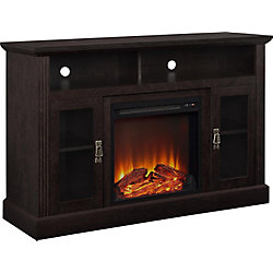 Dorel Chicago 70 lb. Capacity Electric Fireplace Entertainment Console for 50-inch TVs in Espresso