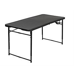 Black Adjustable Folding Outdoor Table