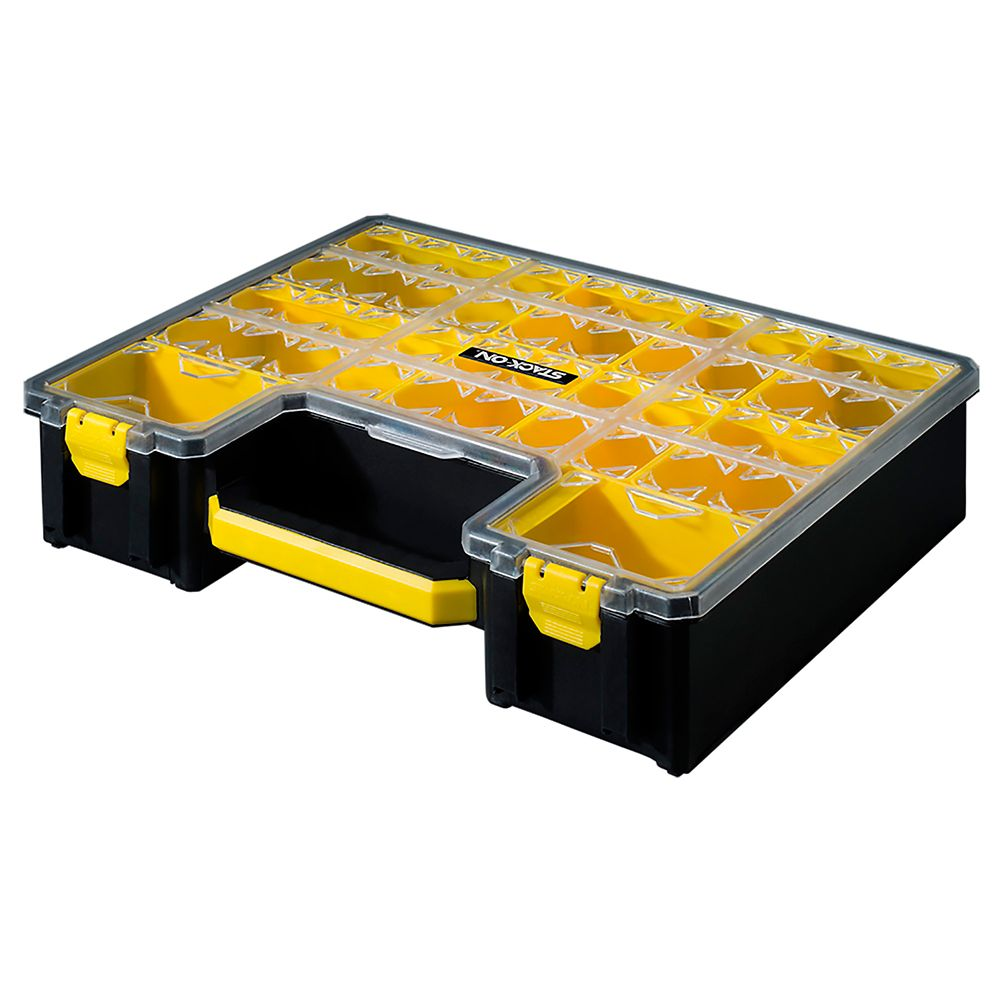 Stack On 10 Cup Professional Deep Cup Organizer, Yellow
