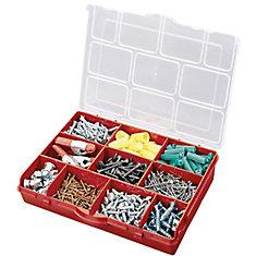 10 Compartment Portable Storage Box, Red