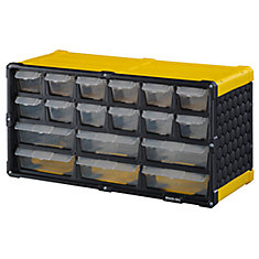 18 Drawer Storage Cabinet, Yellow