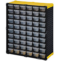 60 Drawer Storage Cabinet, Yellow