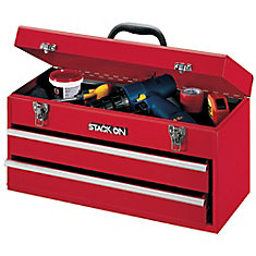 20 Inch 2 Drawer Chest, Red
