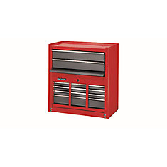 6 Drawer Chest/Cabinet Combo, Red