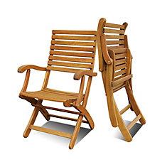 CASINO Folding Patio Chairs (Set of 2)
