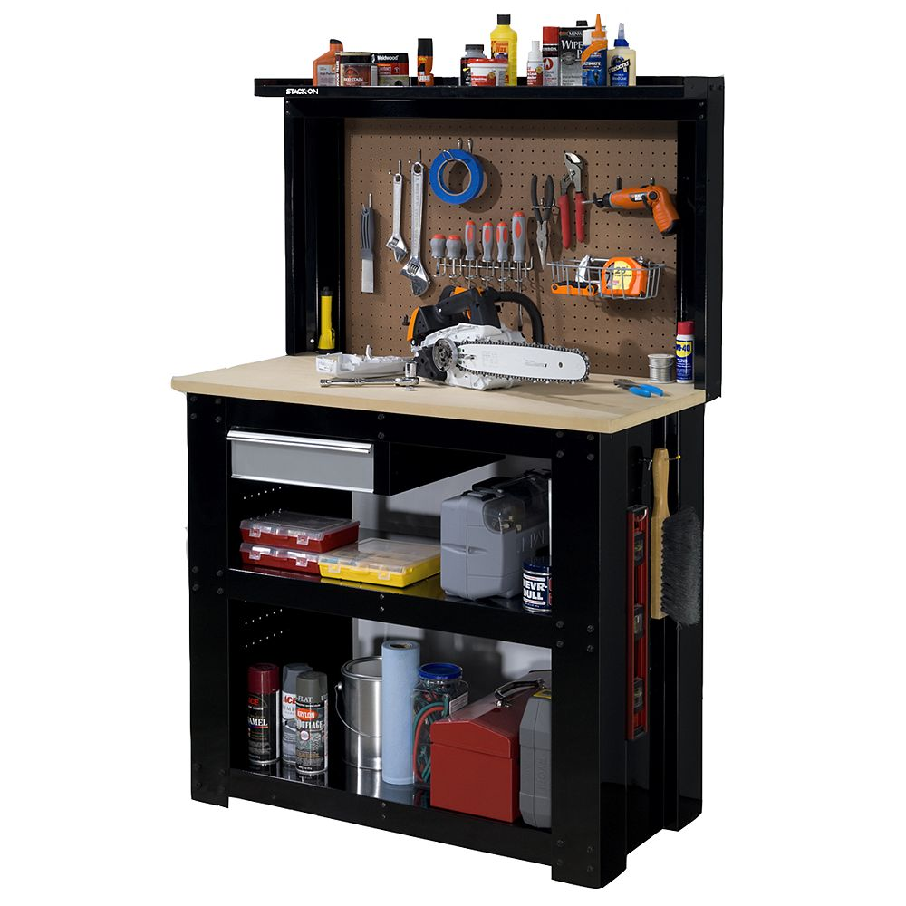 Stack On Reloading Centre and Workbench with Pegboard Back wall