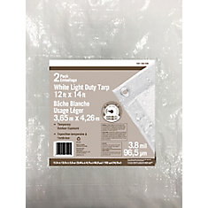 Twin pack promo-White tarp 12 Feetx14 Feet