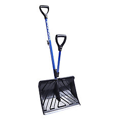 Shovelution 18-inch Strain-Reducing Snow Shovel with Spring-Assist Handle