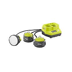 RYOBI Éclairage par câble hybride à DEL hybride sans fil 18V ONE+ (outil seulement)
