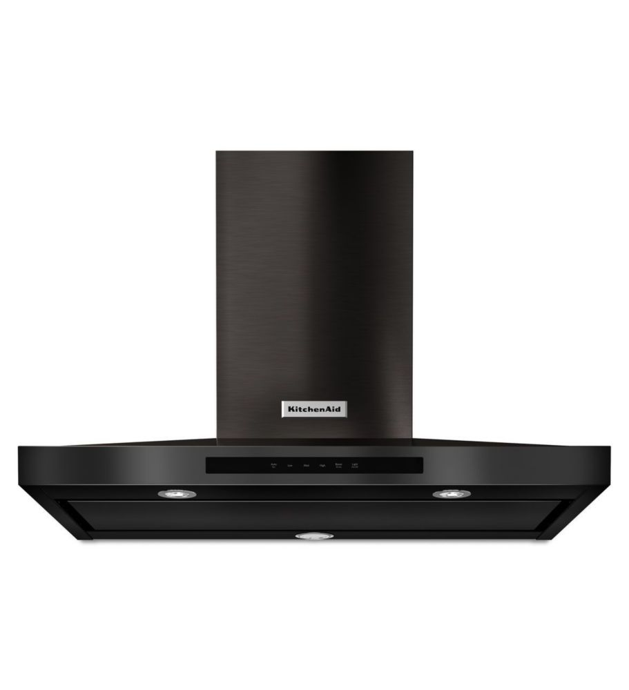 Black Stainless, 36 Inch Wall-Mount, 3-Speed Canopy Hood